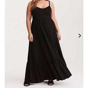 Torrid Black Tiered Jersey Maxi Dress